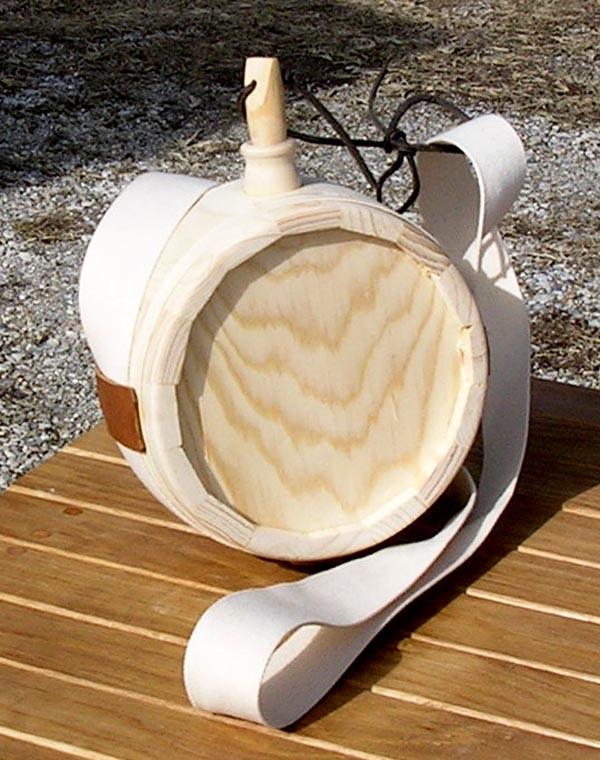 wooden canteen