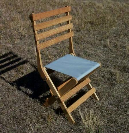 Old Canvas 15 inch folding chair